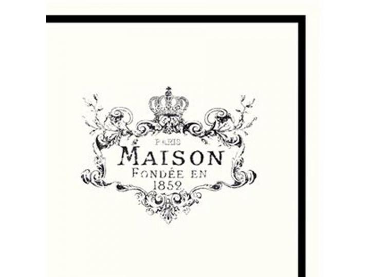 "Servietter m. print ""Maison"" 20 stk."