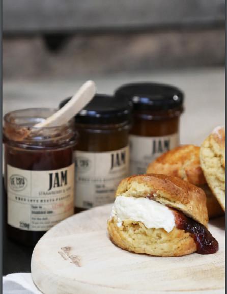 LE CRU delikatesser- Fransk marmelade med abrikoser & mandler