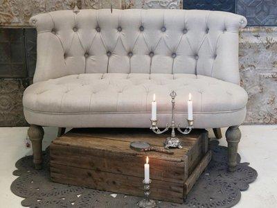 Fransk sofa m. hørstof 2 pers.