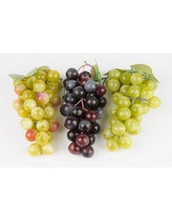Dekorationsfrugt - Vindrue klasse, grøn H14 cm