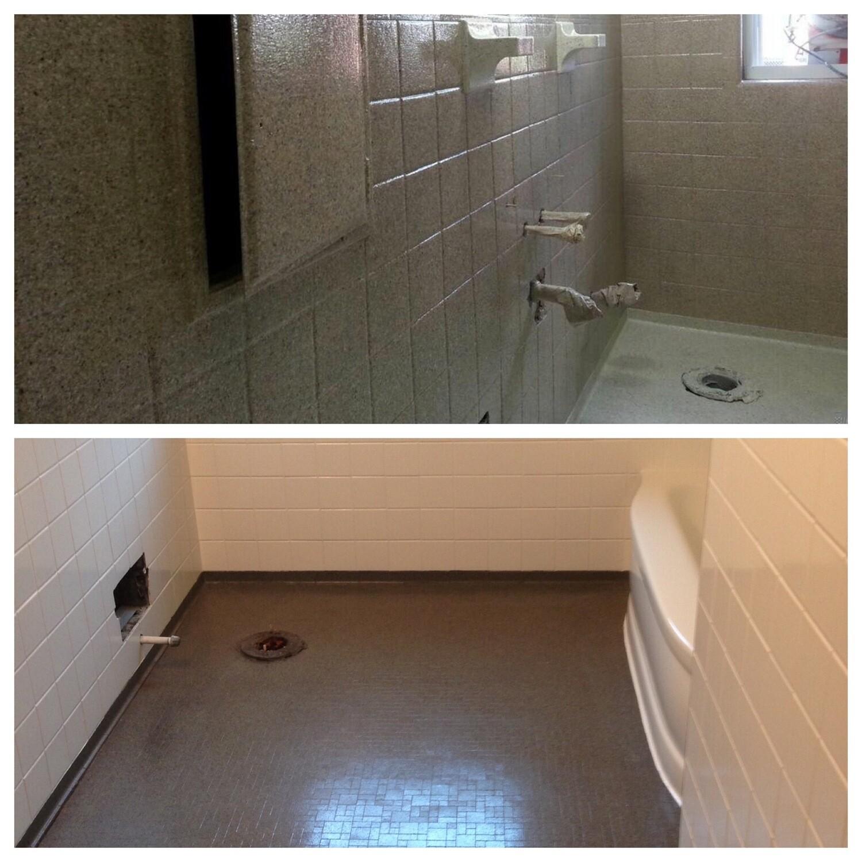 Liquid Granite Shower Floor