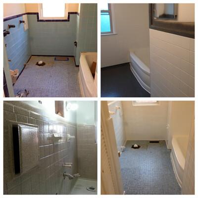 Liquid Granite Bathroom Floor