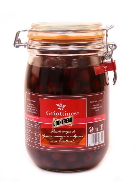 GRIOTTINES v Cointreau, 1L, sklo, 15%