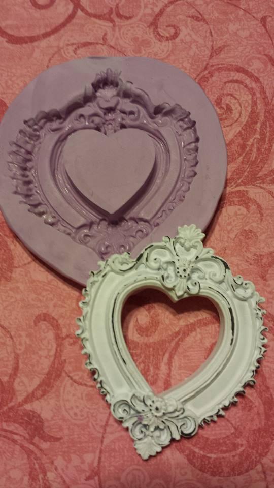 Fancy Heart Frame Mold