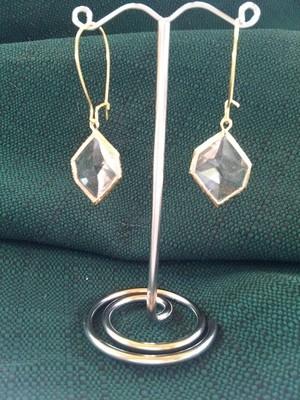 A-Symmetrical Hexagon Stone in gold Bezel
