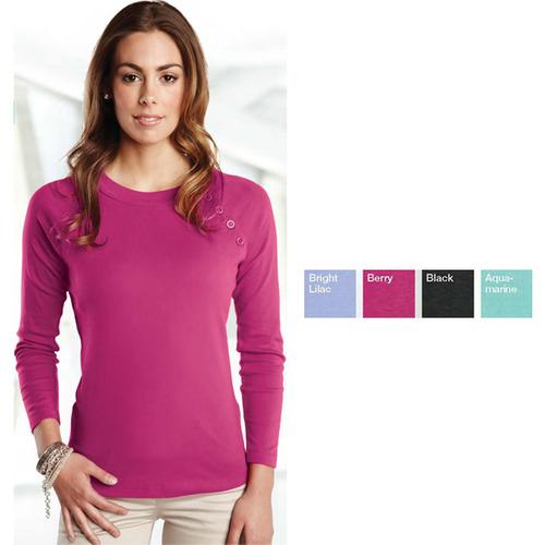 Tiffany Long Sleeve Scoop Neck Shirt