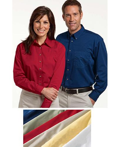 Women's Long Sleeve Twill Casual Dress Shirt