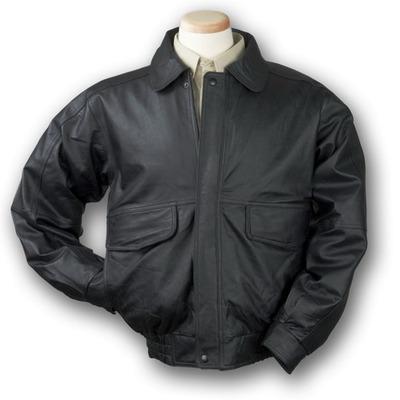 Men's Buffed Bomber Leather Jacket