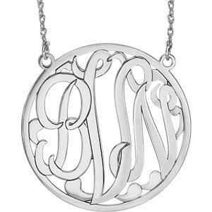 Customized Script Monogram Necklace