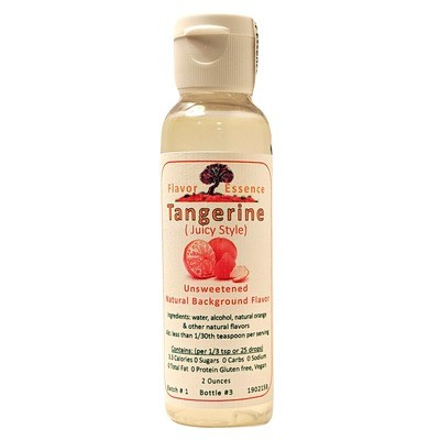 Flavor Essence TANGERINE (Juicy Style) -Unsweetened Natural Flavoring