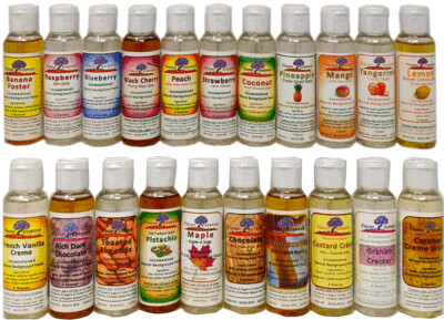 Flavor Essence Flavorings (20-Pack x 2 oz any combination, =4.49/bottle)