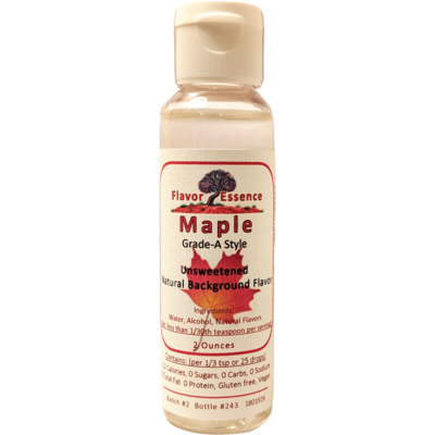 Flavor Essence MAPLE (Grade-A Style) -Unsweetened Natural Flavoring