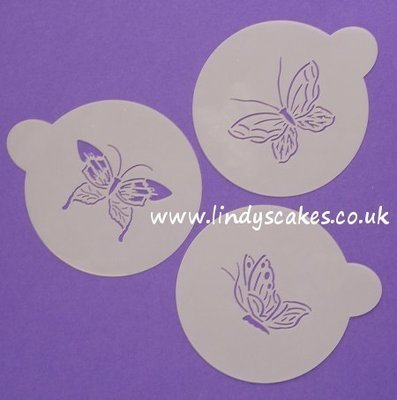 Butterfly Stencils Large Set of 3 (C155)