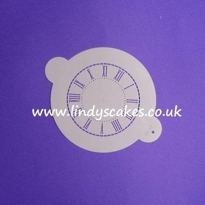 Clock Face Stencil - Small (C290)