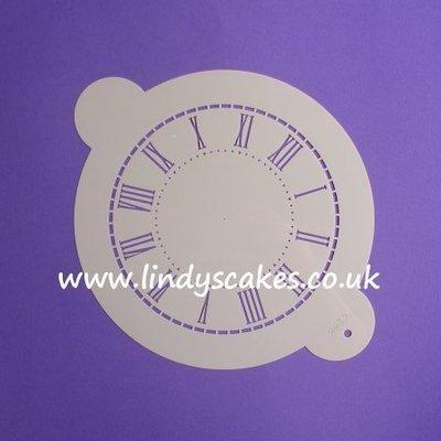 Clock Face Stencil - Medium (C288)