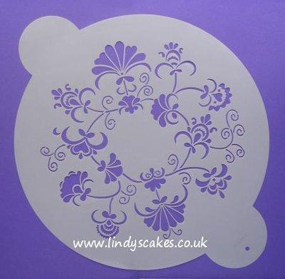 Crewel Ring Design Stencil - Medium (WO86CM)