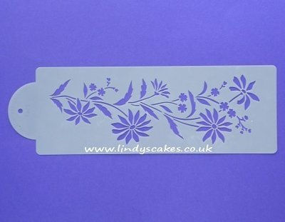 Daisy and Forget-Me-Not Stencil (C547)