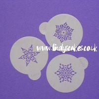 Snowflakes - Mini Crystal Snowflake Stencils (C746)