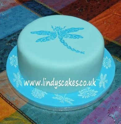 Dragonfly Cake Top Stencil - Lindy's (LC118)