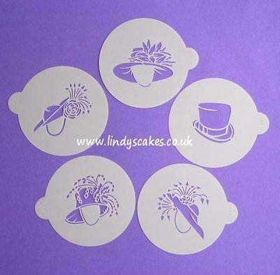 Fancy Wedding Hat Stencils - Lindy's (LC111)