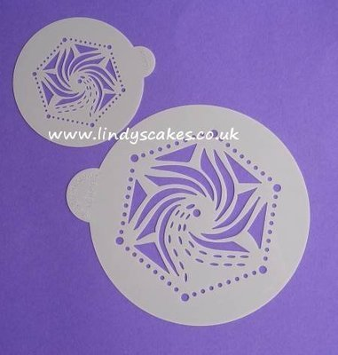 Hexagon Stencil Set (LC109) Lindy's Cakes