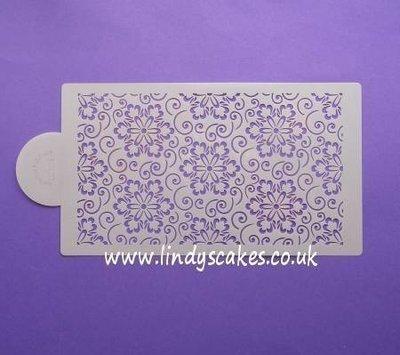 Japanese Flower Scroll Pattern Stencil Sheet (LC103) - Lindy's