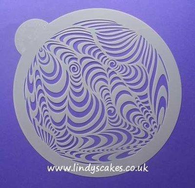 Retro Circle Stencil (LC107) - Lindy's