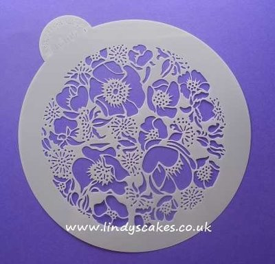 Roses - Species Rose Circle Stencil (LC105) Lindy's