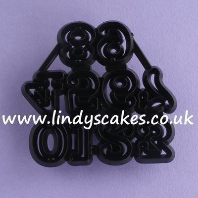 Numerals Cutter and Embossing Set - Small (Patchwork Cutters)