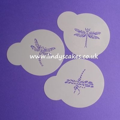 Dragonfly Stencils - Set of 3 Mini (LC115)