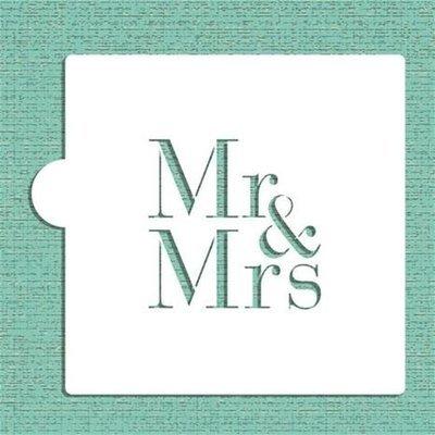 Mr & Mrs Cake Stencil - CM037