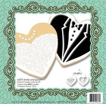 Bride & Groom Cookie Stencil Set CS075
