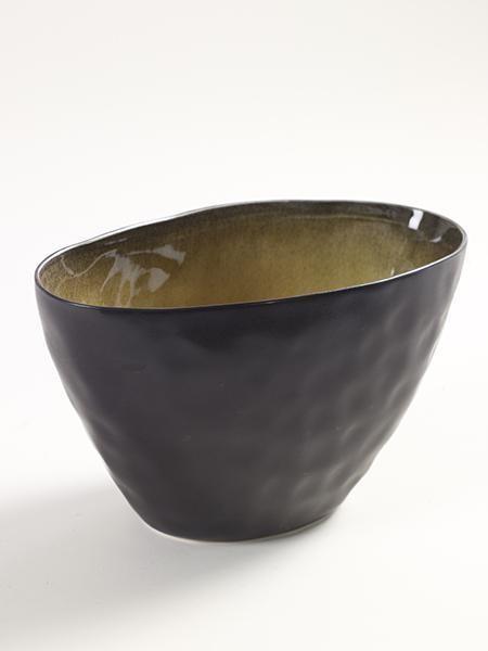 PURE Kugelschale Vase L20,5 x H13cm grün • SERAX Handarbeit