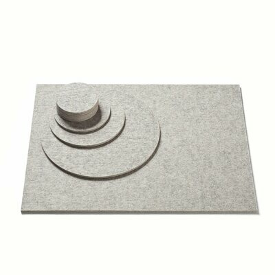 Wollfilz Untersetzer • Set's rechteckig und rund