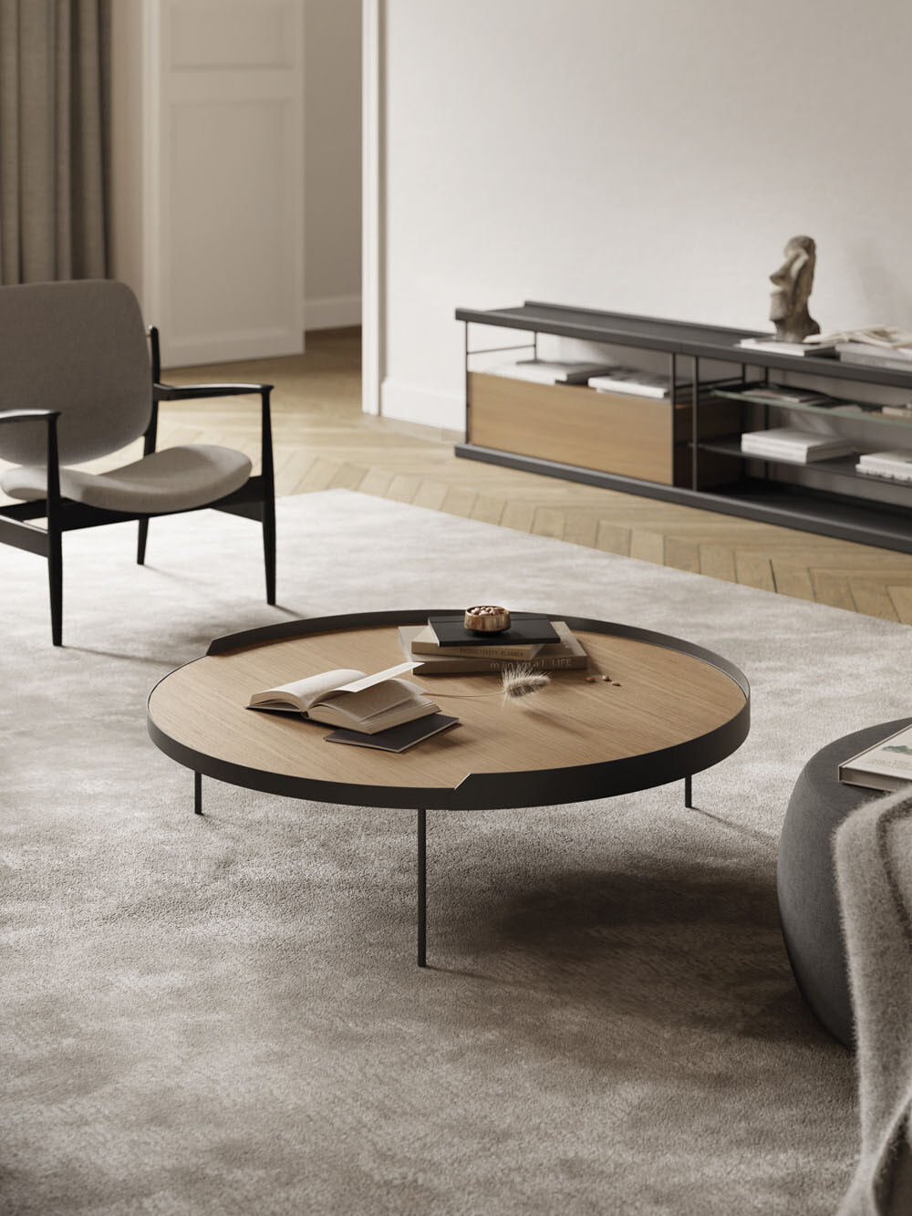 GAU Couch- • Beistelltisch in großer Farbvarianz