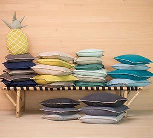 Kissen-Hüllen Baumwolle 40 x 40cm uni