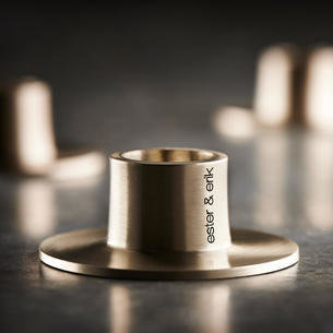 Design Kerzenhalter Metall • Edelstahl / Messing