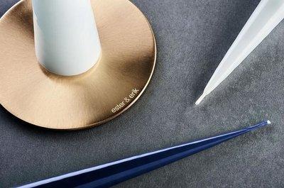 Design Kerzenplatte • Kerzenhalter in Edelstahl / Messing