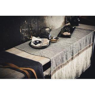 LIBECO Tischtuch 110 x 180 in 100% Leinen mehrfarbig