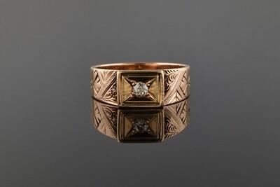 Rose Gold Unisex Band Ring