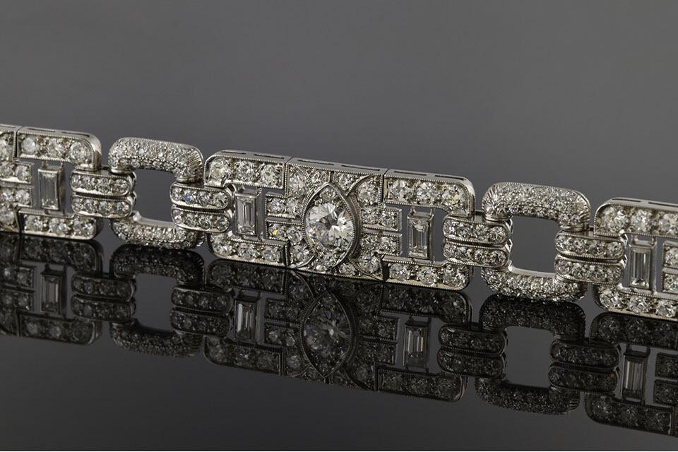 Square Link Diamond Bracelet