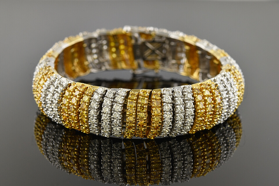 White & Yellow Diamond Bracelet