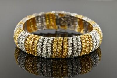White & Yellow Diamond Bracelet