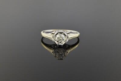 Hand Engraved Diamond Ring