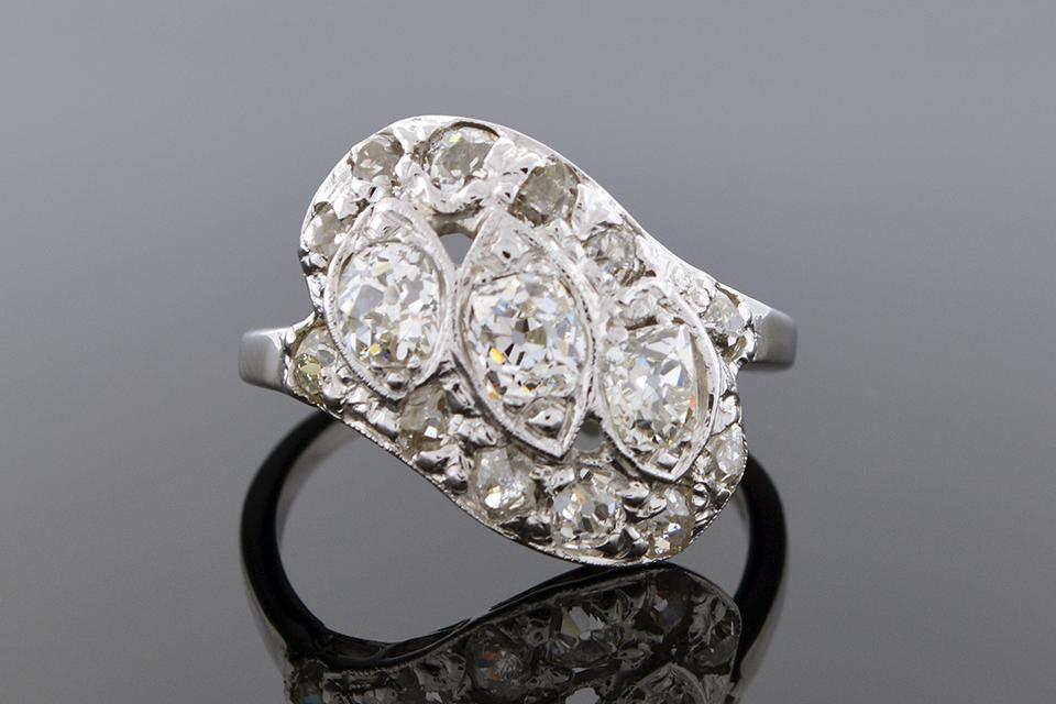 Vintage Diamond Angle Ring