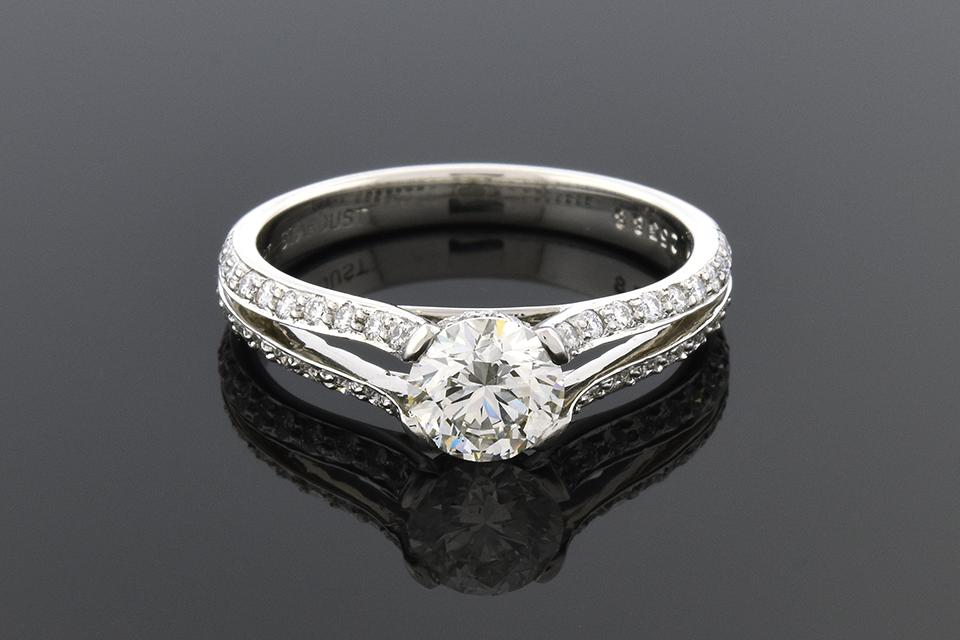 Item #6083 Split Shank Diamond Engagement Ring