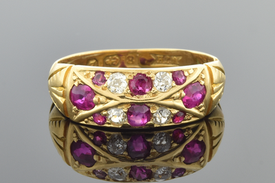 English Ruby and Diamond Band