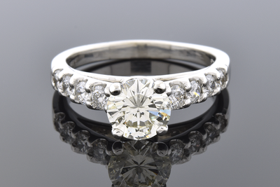 High Set Diamond Engagement Ring
