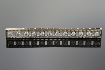 Item #1062 Art Deco Diamond Bar Brooch