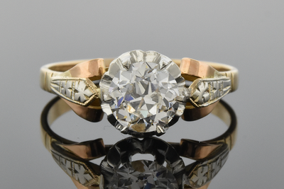Vintage Old European Cut Diamond Engagement Ring